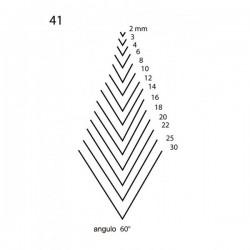 Goiva reta perfil V corte 41