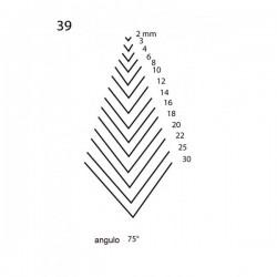 Goiva reta perfil V corte 39