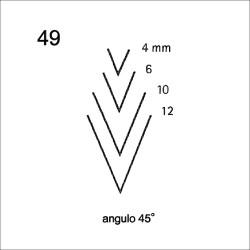 Goiva reta perfil V ref.3149