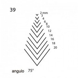 Goiva curvada perfil V corte 39